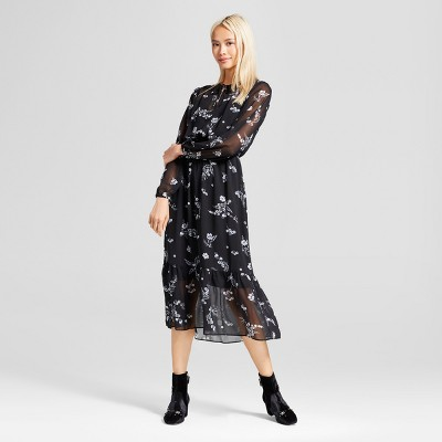Target lace sleeve maxi dress