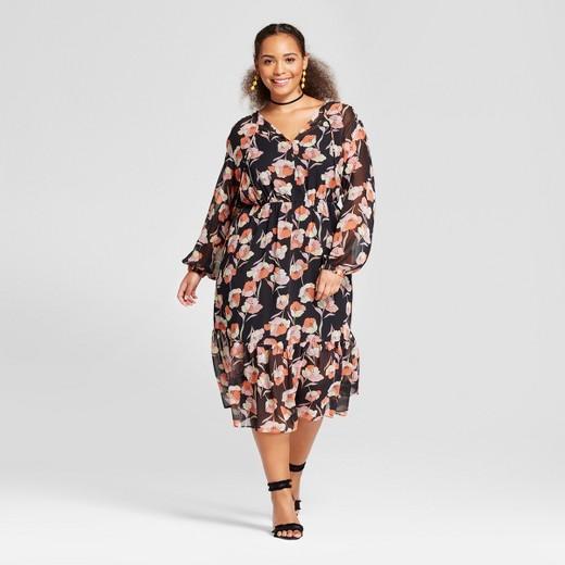 women's plus size flowy maxi dress - who what wear™ poppy floral