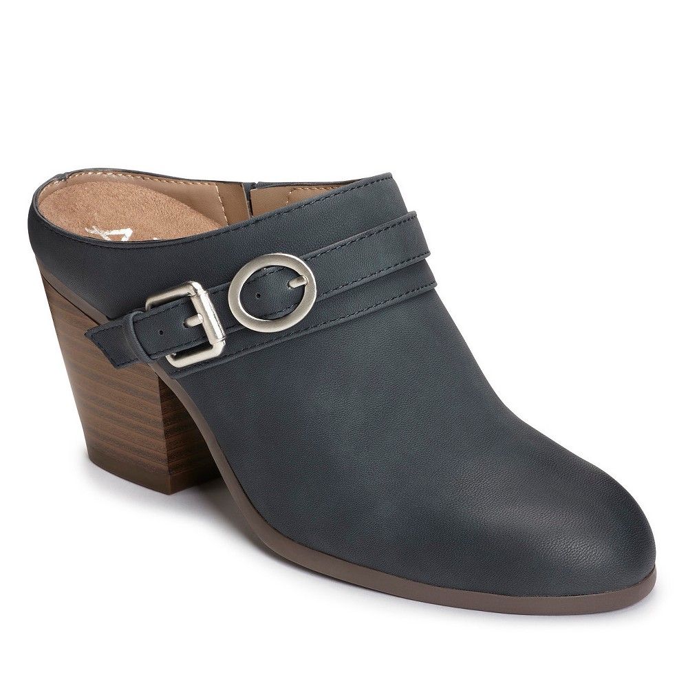 Women's A2 by Aerosoles Velviteen Mules - Navy (Blue) 10.5