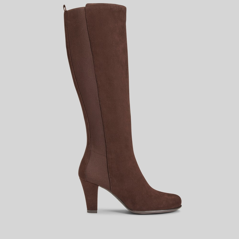 Womens A2 by Aerosoles Wide Width Quick Role Fashion Boots - Brown 11W, Size: 11 Wide