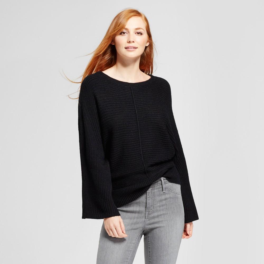 Womens Front Seam Pullover Sweater - Cliché Black XL
