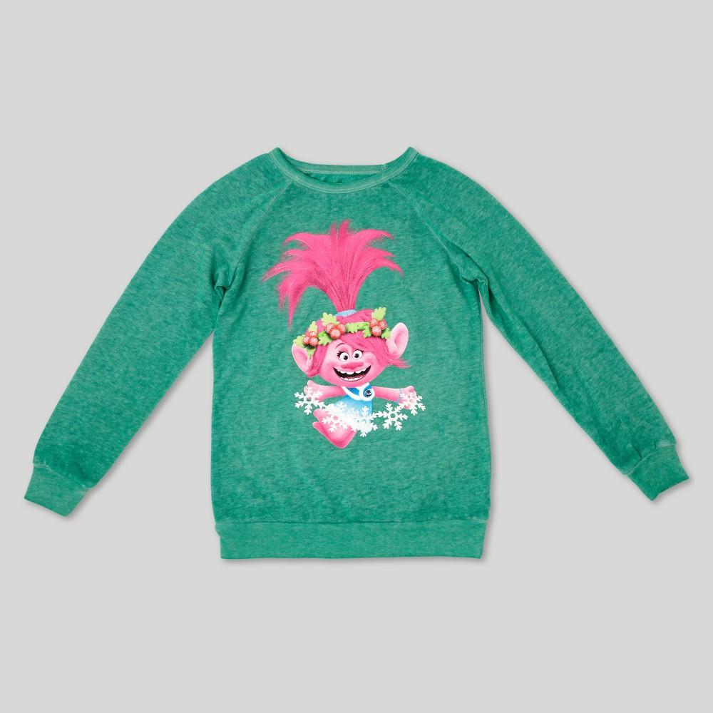 Girls Trolls Poppy Graphic Sweatshirt - Green XL