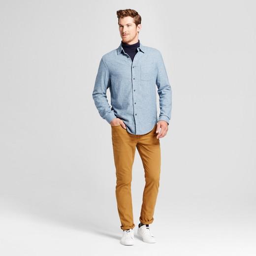 Men's Long Sleeve Heavyweight Flannel Button Down Shirt ...