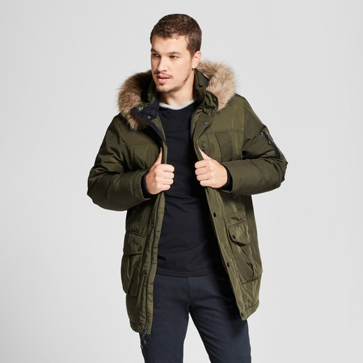 Men's Arctic Parka - Goodfellow & Co™ Olive Green : Target