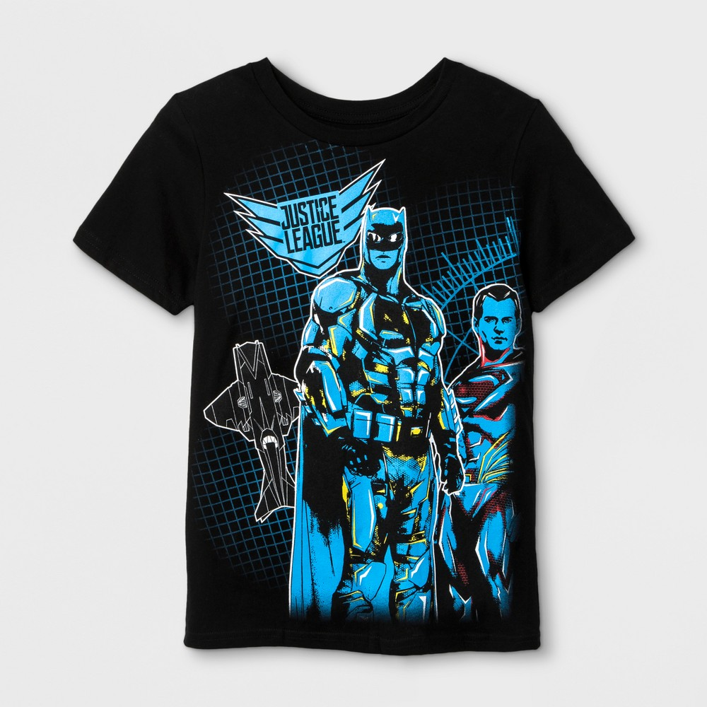 Boys' Justice League Wrap T-Shirt - Black S