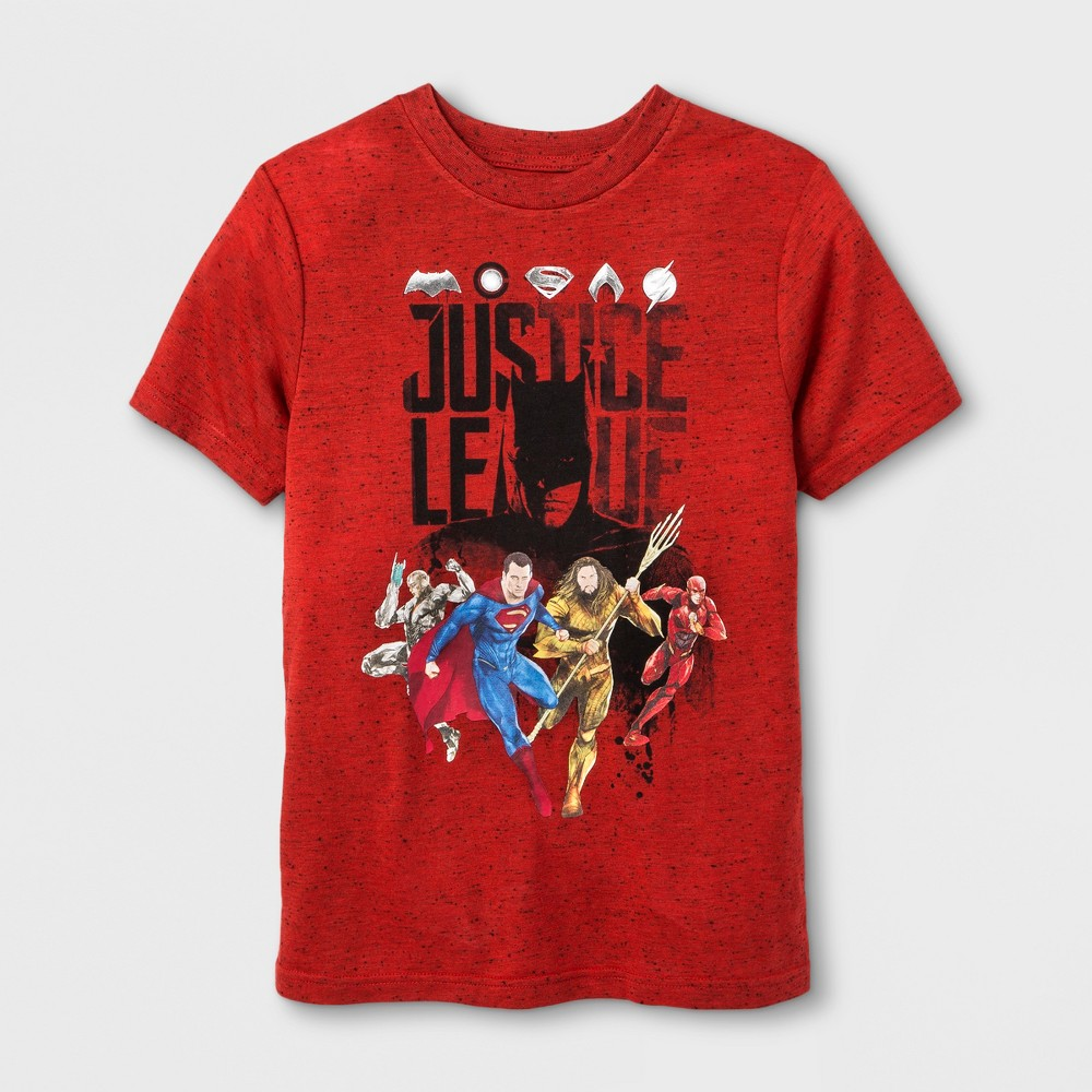 Boys Justice League Group T-Shirt - Red M