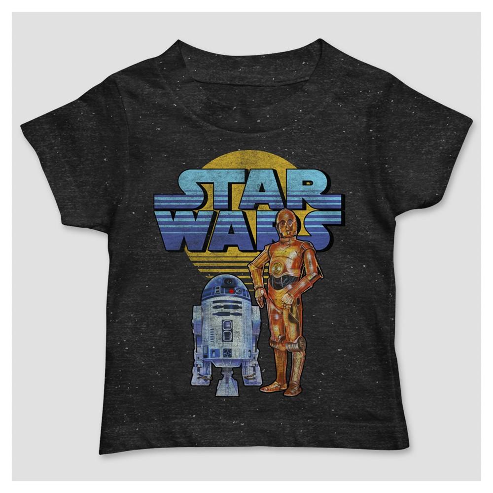 Toddler Boys Star Wars Droids T-Shirt - Black - 4T