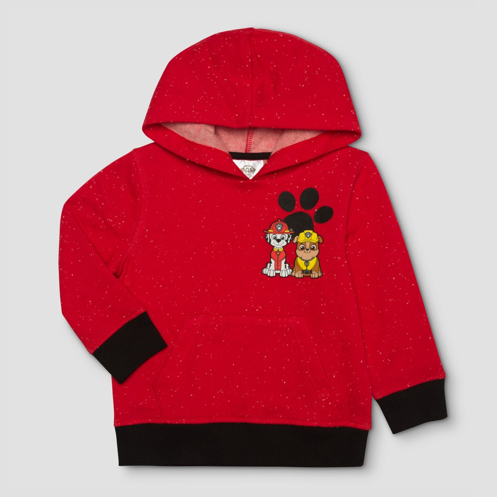 Toddler Boys Paw Patrol Paw Buddies Hoodie Sweatshirt - Red 4T