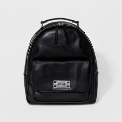 Women's Cesca Medium Backpack with Zip Closure and Front Pocket with Turnlock Detailing