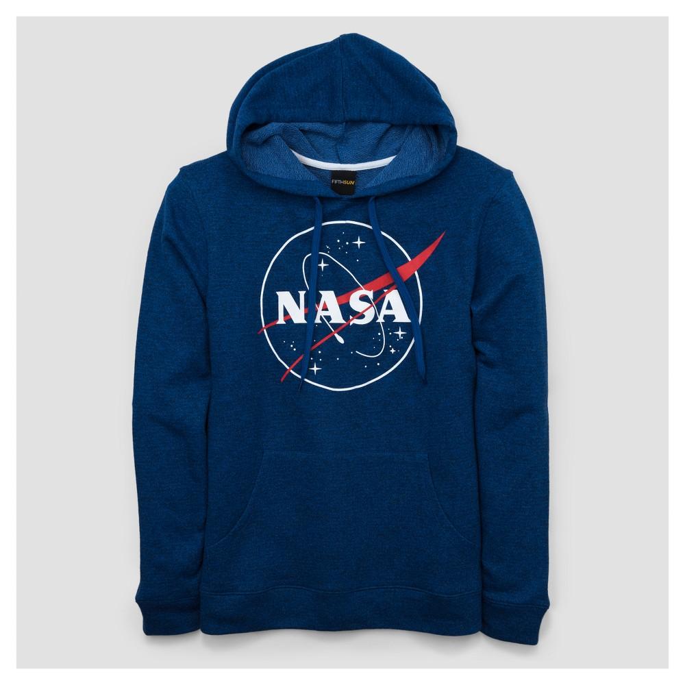 Mens Nasa Pullover Sweater - Blue L