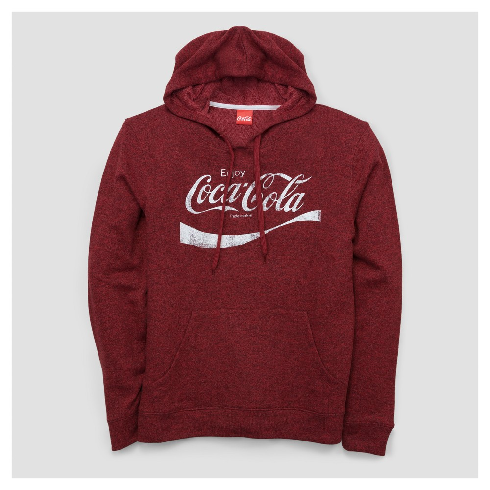 Mens Coca-Cola French Terry Pullover Sweater - Red XL