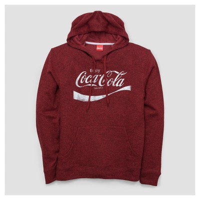 Men's Coca-Cola French Terry Pullover Sweater - Red XXL