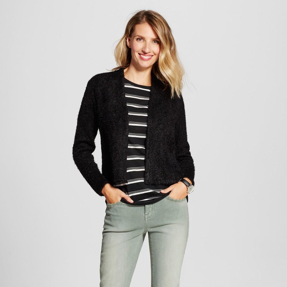 Womens Fuzzy Chevron Jacket - August Moon White/Black XL