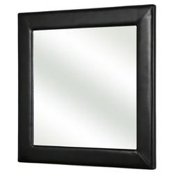 Benson Leather Square Wall Mirror - Abbyson