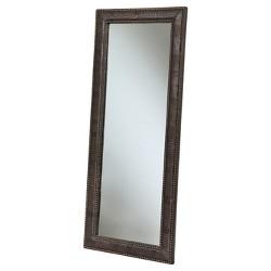Gavin Leather Floor Mirror - Abbyson