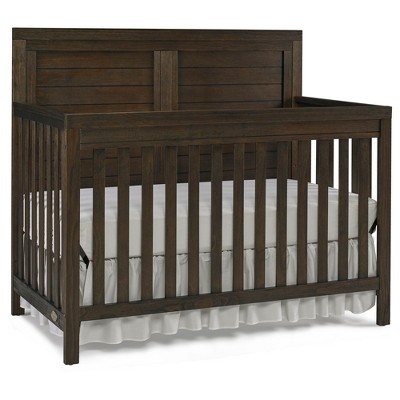 Ti Amo Castello 4-in-1 Convertible Crib - Wire Brushed Brown