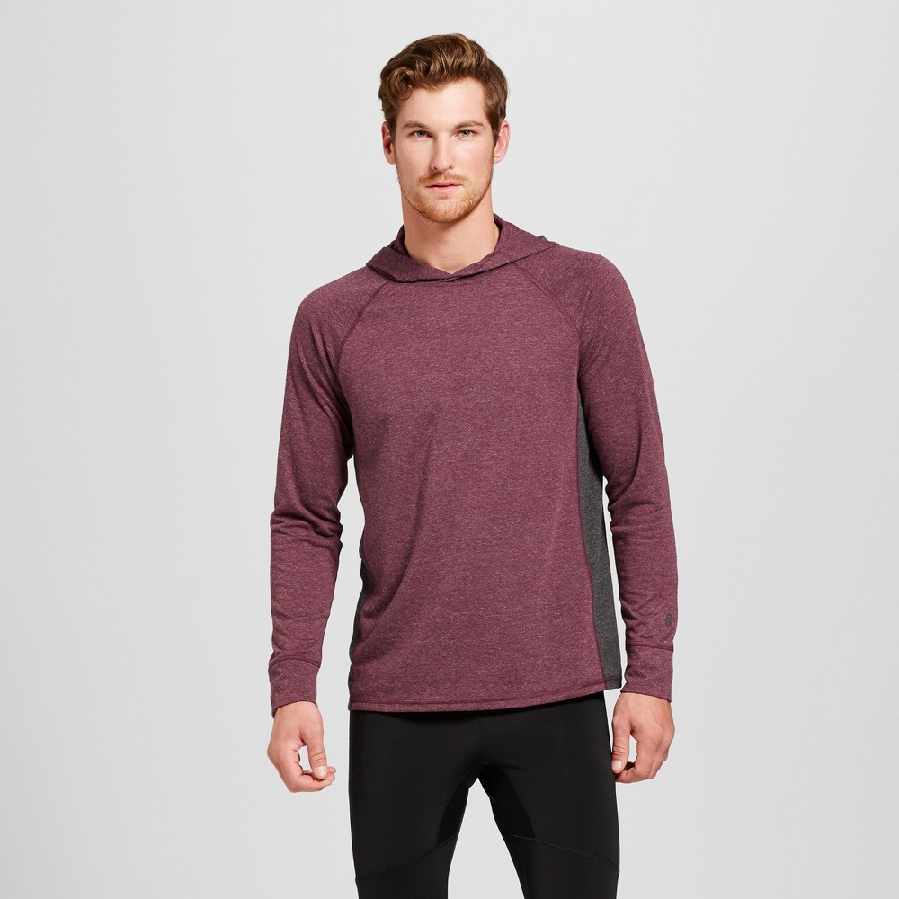 Men's Long Sleeve Hooded Pullover - C9 Champion Bordeaux (Red) L