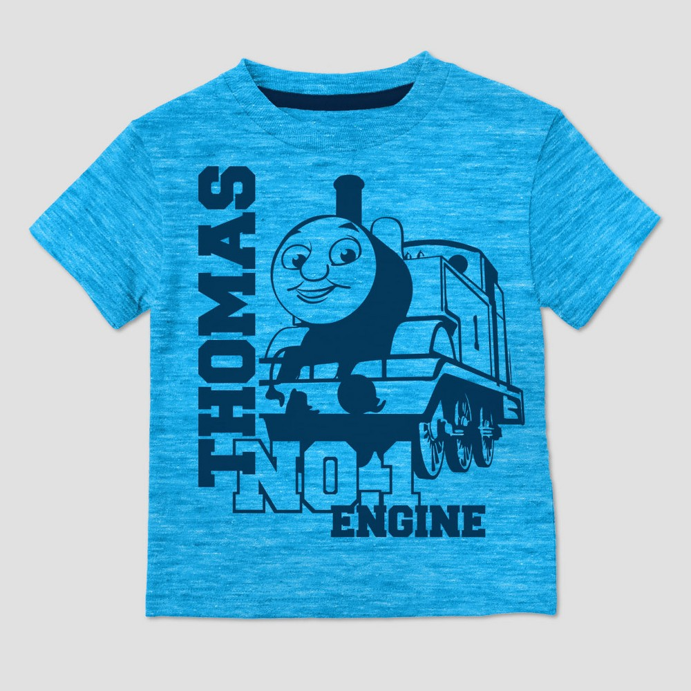 Toddler Boys Thomas & Friends Short Sleeve T-Shirt - Turquoise - 5T, Blue
