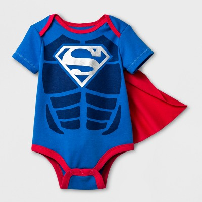 Baby Girls' Superman Bodysuit With Cape - Blue 12 Months