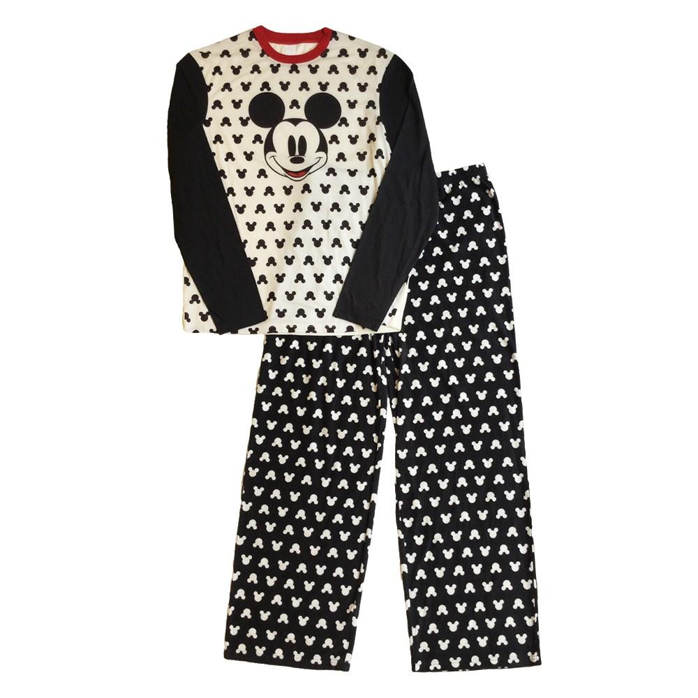 Men's Mickey Mouse Sleep Pajama - Black L