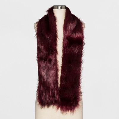 view Women's Cold Weather Scarves - A New Day Burgundy on target.com. Opens in a new tab.
