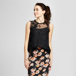 Women's Lace Mix Ruffle Shell - Who What Wear™