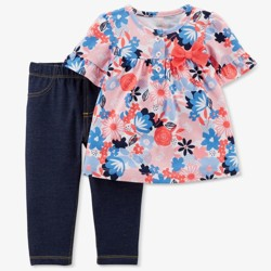 Baby Girls' Floral 2pc Top/Jeggings Set - Just One You™ Made by Carter's®  Pink