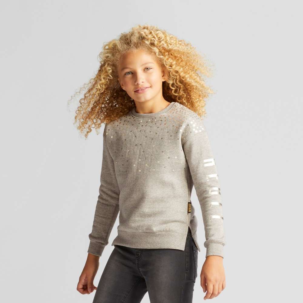 Girls Star Wars Forces Of Destiny Pullover Sweater - Heather Gray M