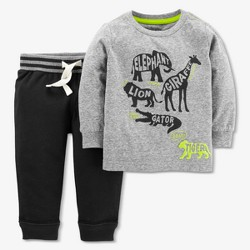 Baby Boys' Animals 2pc Pants Set - Just One You™ Made by Carter's® Gray