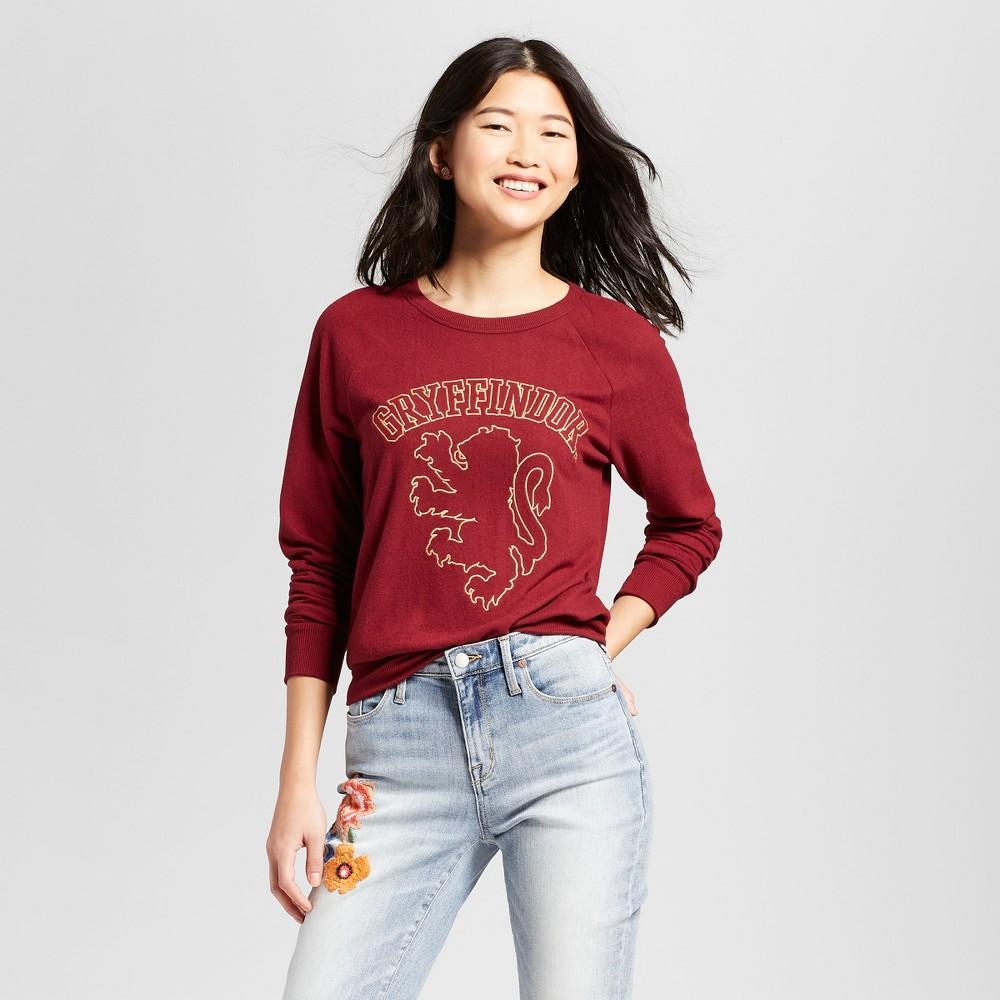 Women's Harry Potter Gryffindor Graphic Sweatshirt (Juniors') - Burgundy S, Red