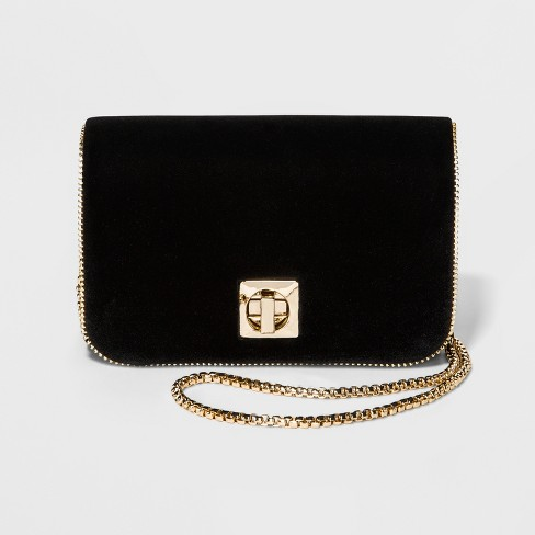 Women's Velvet Crossbody Handbag - Estee & Lilly - image 1 of 3