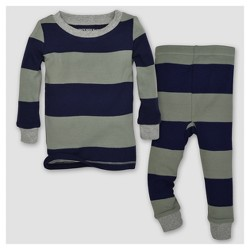 Burt's Bees Baby® Baby Boys' Organic Stripe T-Shirt & Pants Pajama Set - Dried Leak