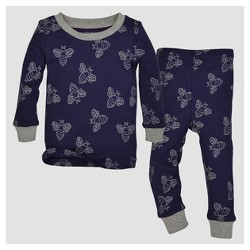 Burt's Bees Baby® Baby Boys' Organic Watercolor Bee T-Shirt & Pants Pajama Set - Starry Night
