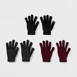 Women's 3pk Knit Tech Touch Gloves - Mossimo Supply Co.™