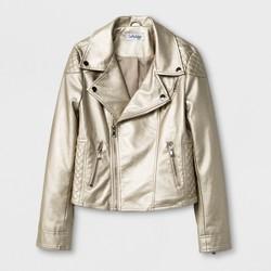 CoffeeShop Kids® Girls' Pearlized Faux Leather Moto Jacket