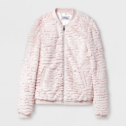 CoffeeShop Kids® Girls' Clipped Rabbit Faux Fur Jacket - Pink