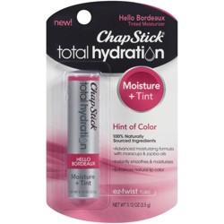 ChapStick® Total Hydration Tinted Moisturizer, 100% Natural Lip Color - Hello Bordeaux - 1ct