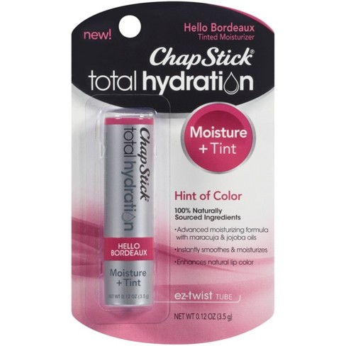 ChapStick® Total Hydration Tinted Moisturizer, 100% Natural Lip Color - Hello Bordeaux - 1ct - image 1 of 5