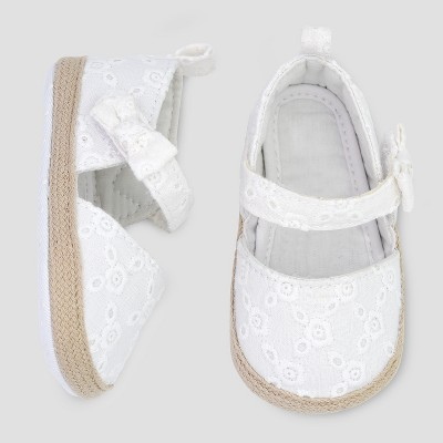 Baby Girls' Espadrille - Just One You® made by carter's White 0-3M
