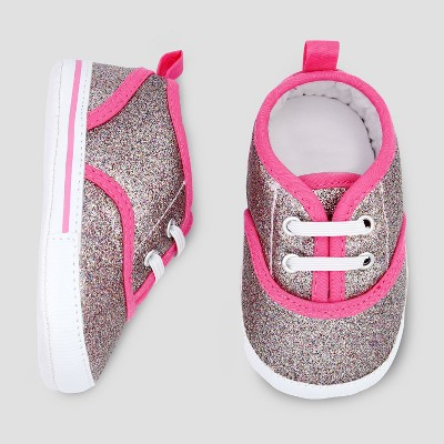 Baby Girls' Glitter Sneaker - Just One You® made by carter's Pink 3-6M