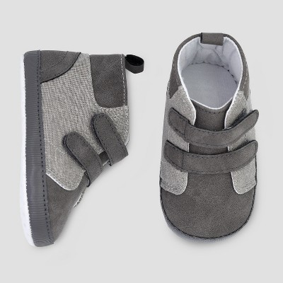 Baby Boys' High Top Sneaker - Just One You® made by carter's Gray 3-6M