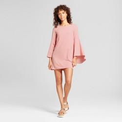 Women's Woven Waterfall Sleeve Dress - Necessary Objects® Pink