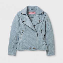 Explorer by Urban Republic Girls' Fleece Peplum Jacket - Gray