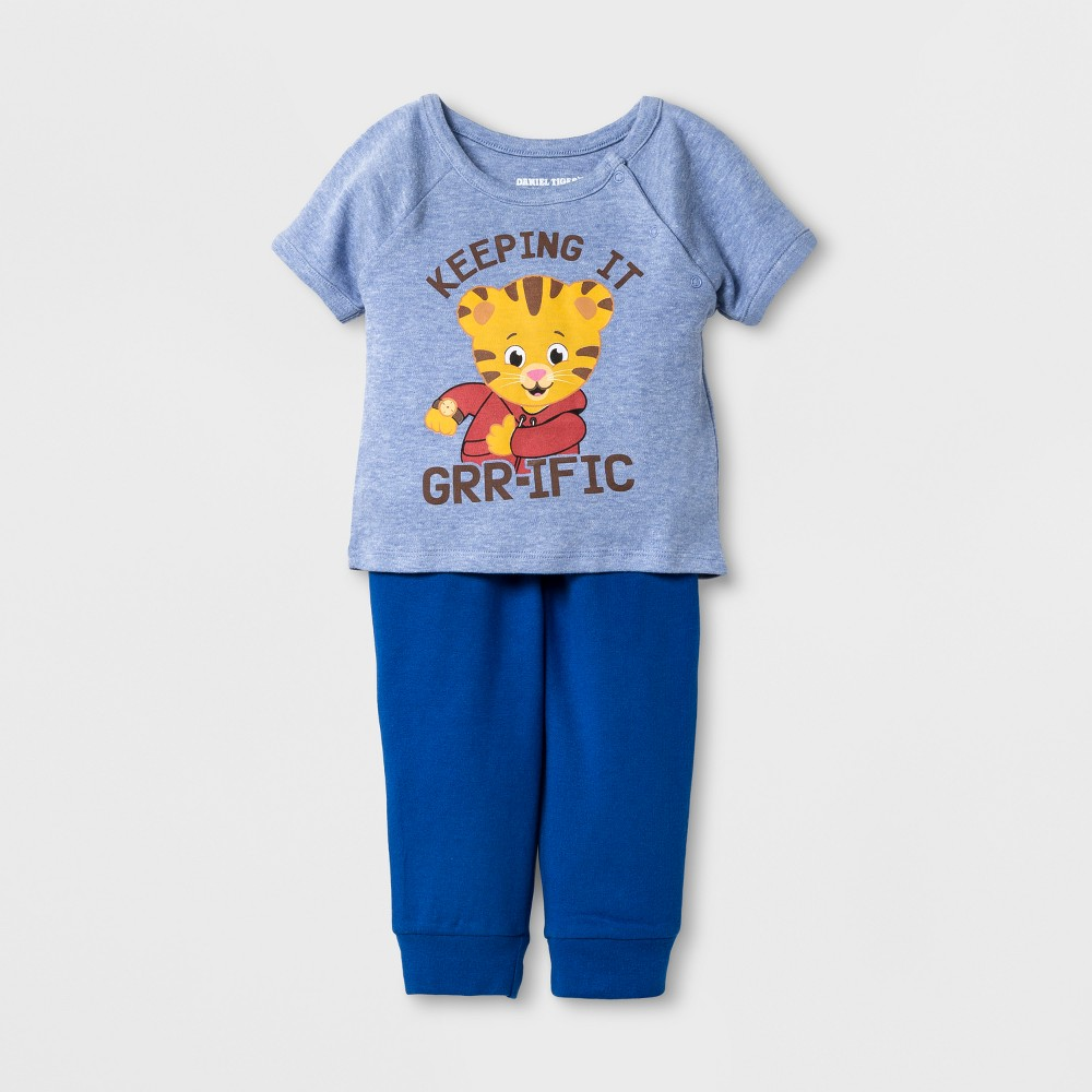 Baby Girls Daniel Tigers Neighborhood Doll And Child Clothing Set - Navy 6 M, Blue