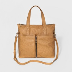 Cesca Women's Large Tote With Zip Detailing and Front Pocket