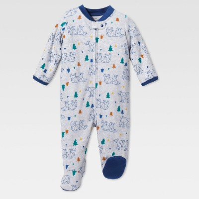 Lamaze Baby Boys' Organic Bear Stencil Sleep N Play - Gray NB