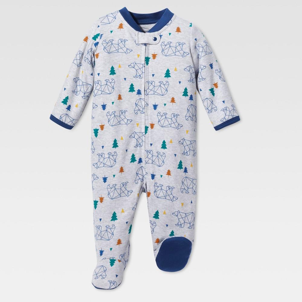 Lamaze Baby Boys Organic Bear Stencil Sleep N Play - Gray NB