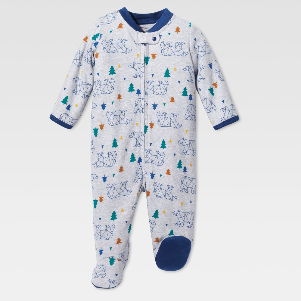 Lamaze Baby Boys' Organic Bear Stencil Sleep N Play - Gray 6M