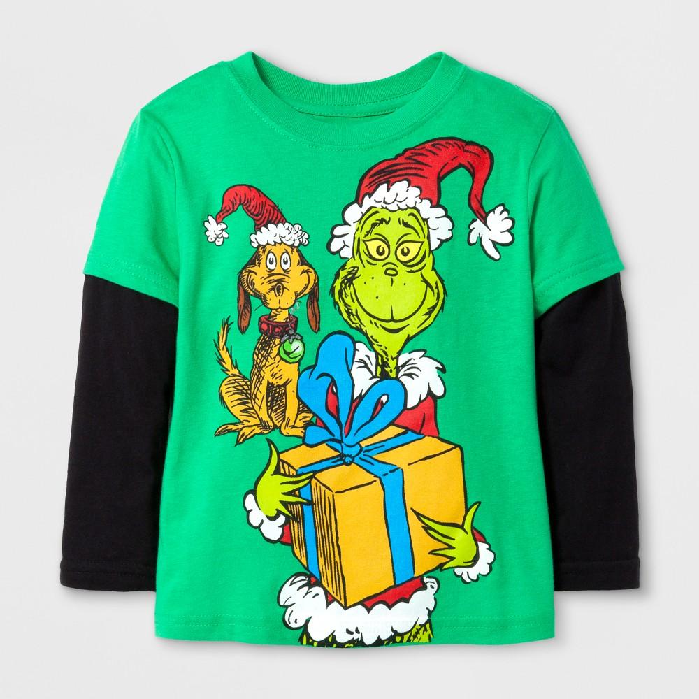 T-Shirt Grinch Kelly Green 2T, Boys