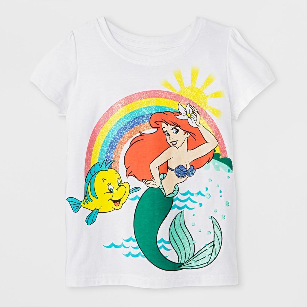 Toddler Girls Ariel T-Shirt - White 5T